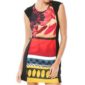 "Desigual medium ""kiss me baby"" multicolor dress"